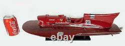 Ferrari Hydroplane 20 Classic Wooden Speed Boat Display Model