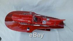Ferrari Hydroplane 20 Wooden Speed Boat Replica Wood Model Boat L50 Handmade
