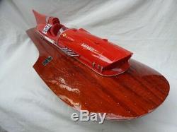 Ferrari Hydroplane 2 Sizes Wood Model Boat Handmade High Quality Speed Boat