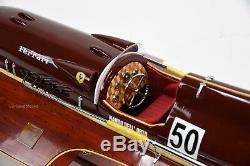 Ferrari Hydroplane 31 Handcrafted Wooden Racing Boat Model