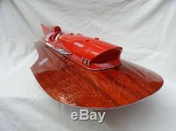 Ferrari Hydroplane L80 Wooden Speed Boat High Quality Wood Model Boat Ship
