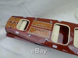 Free Shipping High Quality Chris Craft Triple Cockpit L70cm Wood Model Boat 26