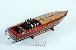 Gar Wood Miss America IX 32 Handmade Wooden Model Racing Boat Model