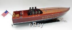 Gar Wood Miss America IX U-19 32 Handmade Wooden Model Racing Boat