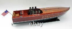 Gar Wood Miss America IX U-19 Wooden Model Racing Boat