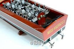 Gar Wood Miss America X 32 Handcrafted Wooden Model Race Boat Model