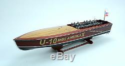 Gar Wood Miss America X 32 Handmade Wooden Model Racing Boat Model