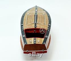Gar Wood Speedster Miss Behave Handmade Wooden Classic Boat Model 32