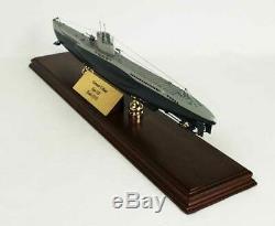 German U-Boat Submarine Desk Top Display Sub Wood 1/125 WW2 Navy War Ship Model