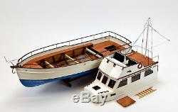 Grand Banks 32 Yacht Handmade Wooden Boat Model 38 RC Ready Top Quality