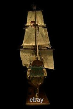 HMS Adventure Scale Model Handcrafted Wood Ship
