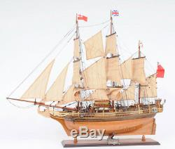 HMS Bounty Wooden Tall Ship Model Sailboat 37 Fully Assembled Replica Boat New