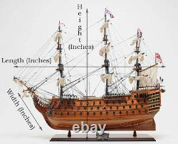 HMS Sovereign of the Seas British Navy Tall Ship Wood Model Sailboat
