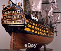 HMS VICTORY 43 wood model ship historic British UK tall sailing boat