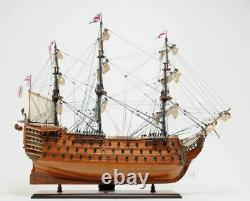 HMS Victory Admiral Nelsons Flagship Tall Ship Wood Model Sailboat Assembled