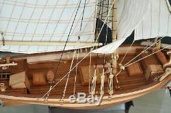 HOBBY Sweden Yacht Sailboat Scale 150 640mm 25 Wooden Boat Model kit