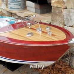 HUGE 68 Riva Aquarama Wood Model Boat! Nearly 6 foot long