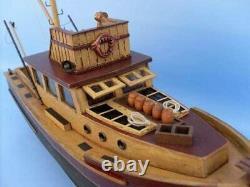 Hampton Nautical Jaws Orca Model Fishing Boat Fully Assembled