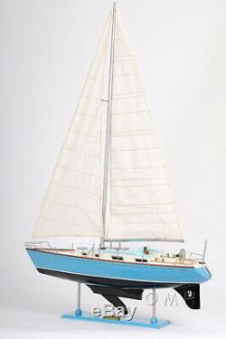 Handcrafted Bristol 35 Sailboat Wooden Yacht Model 29 Sloop Built Boat New