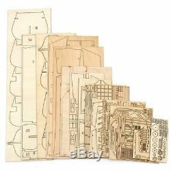 Handmade Ship 32 Inch Wooden Sailing Boat Model Kit Ships Wood Models DIY NEW