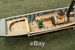 Handmade Wood Steam River Boat Sloop Model African Queen (M2L) Detailed Model
