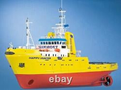 Happy Hunter Salvage Tug Boat with Fittings 150 Krick Robbe RC Model Kit