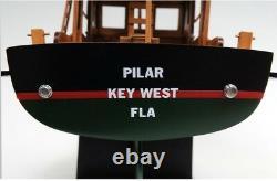 Hemingway Pilar Fishing Boat Model, Detailed, Handmade Display-Ready On Stand