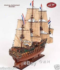 Holland Frigate Friesland Tall Ship 29 Built Wooden Model Boat Assembled