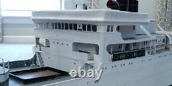 Huge Large 8 Ft Long Custom Model White Ship Boat Yacht