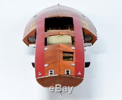 Hydroplane Slo-mo-shun IV U-27 Handmade Wooden Race Boat Model 36 RC Ready