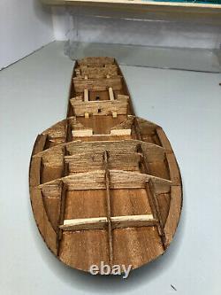 IN BOX Vintage DUMAS Boat Model Kit MISS THRIFTWAY Mahogany Wood Hydroplane