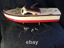 Ito Japan Speed Boat Wooden Battery Operated Scale Model Toy Tmy Motor 16 Long