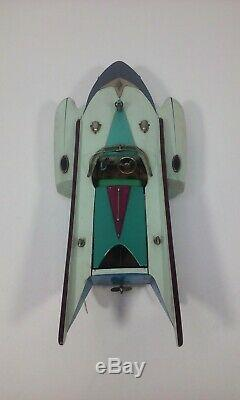 Ito Toy Shark Wood Model Battery Operated Race Speed Boat Tmy Motor Tokyo Japan