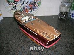 Ito Toy Wood Boat Cobra Model Battery Operated Boat Wooden Boat Speed Boat Rare