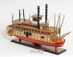 King Of Mississippi Paddle Wheel Steam Riverboat 30 Wood Model Assembled