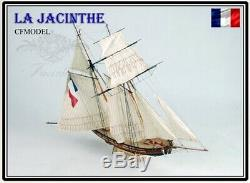 La Jacinthe Scale 1/65 23.6 Wooden Ship Model Kit Wood Sail Boat