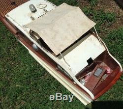 Large Rare Vintage 48 Chris Craft Cabin Cruiser Wood Toy Model Boat Kit R/c