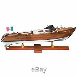 Large Riva Aquarama Wood Model Boat Handmade Italian Speed Boat Authentic Models