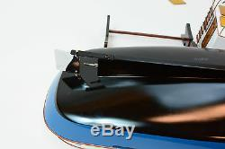 Lord Nelson Victory Tugboat 28 Handmade Wooden Boat Model RC Convertible