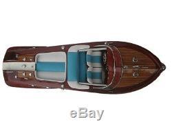 Lot of Ferrari Hydroplane 20 & Riva Aquarama 20 Quality Wood Speed Boat Model