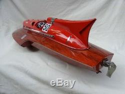 Lot of Ferrari Hydroplane 32 & Riva Aquarama 34 High Quality Wood Model Boat