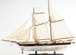 Lynx America's Privateer Tall Ship 34 Built Handmade Wood Model Boat Assembled