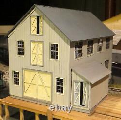 MYSTIC BOAT HOUSE O On3 On30 Model Railroad Structure Unptd Laser Wood Kit DF423