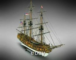 Mamoli MV36 -Rattlesnake Wood Plank-On-Frame Model Ship Kit Scale 1/64
