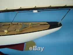 Mantel Office Nautical decor Bermuda Sloop Assembled Model Sail Boat Ship 40
