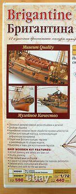 Master Korabel Brigantine Phoenix 1787 Plank-On-Bulkhead Wood Ship Model Kit