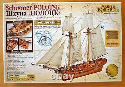 Master Korabel Schooner Polotsk 1788 Ship Plank-On-Bulkhead Wood Model Kit