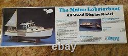 Midwest Products Co. Inc. Maine Lobsterboat Kit # 953 All Wood Model NIB Vintage
