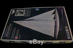 Midwest wood & etched brass model boat kit Rainbow, 1934 Americas Cup winner