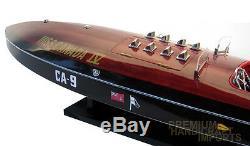 Miss Canada IV Class Hydroplane Handmade Wooden Classic Boat Model NEW